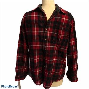 Pendleton red plaid button up wool shirt